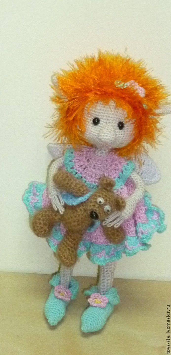 Купить Эльф Мила - крючком, эльф, каркасная кукла, ручная авторская работа, комбинированный