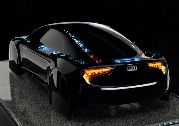 "Audi's ""Visions"" car light concept. Kind of Tron IRL. I'm speechless ..."