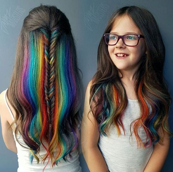 Hidden Rainbow Hair Lets Shy Girls Conceal Their Inner