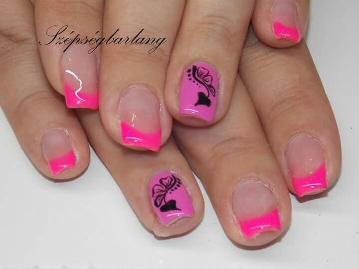 Pink színes gél lakk