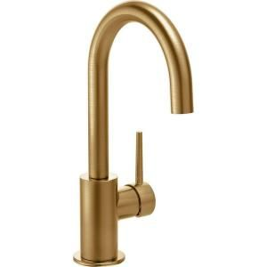 Delta Contemporary Single-Handle Bar Faucet in Champagne Bronze 1959LF-CZ at The Home Depot - Mobile