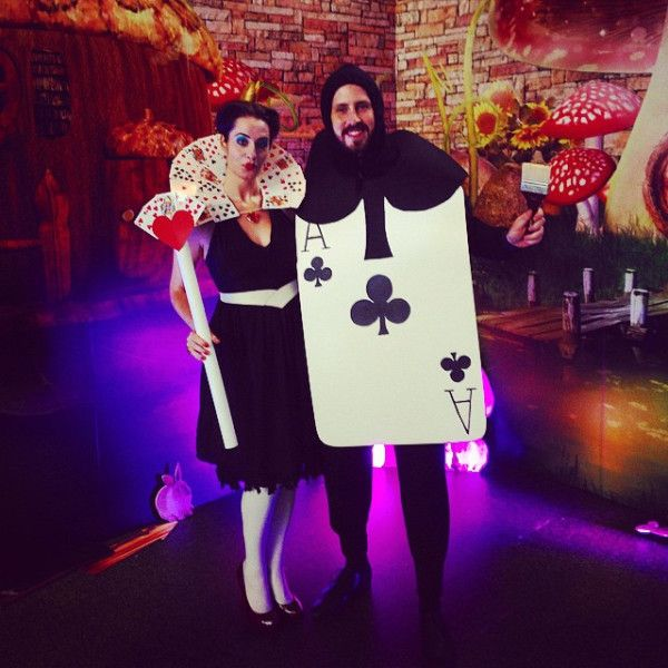 Diy Queen Of Heart Playing Card Costume Playing Card Costume Card Costume Alice In Wonderland Costume