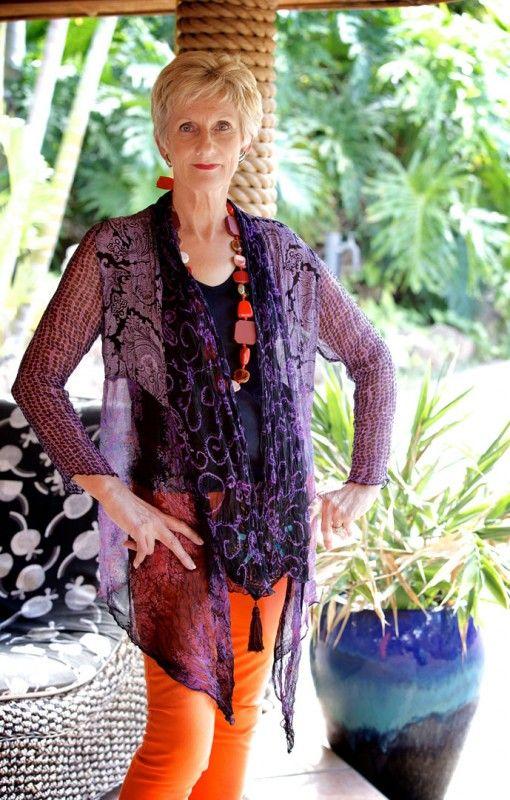 Luffe - Chiffon Lace Jacket. Casual loose fit elegance. Beautifully patterned top to bottom. $115 #lace #chiffon #jacket #fashion