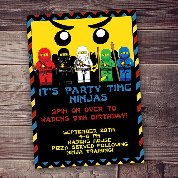 Ninjago Inspired Lego Clipart Invitation FREE Wording