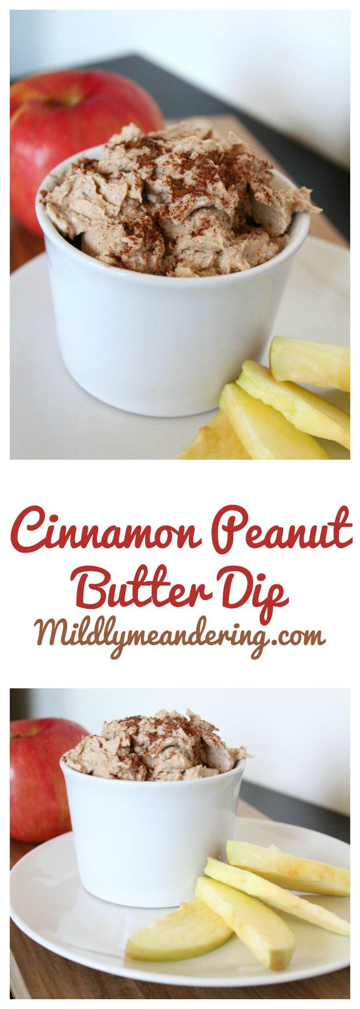 Cinnamon Peanut Butter Dip - Mildly Meandering