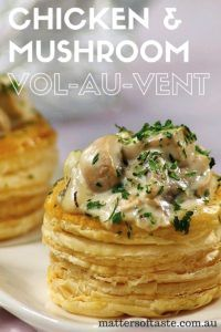Chicken and mushroom vol-Ai-vent...kind of like a pot pie.