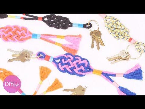 Box Knot Keychain Craft - DIY Style with Erin Furey - Martha Stewart - YouTube