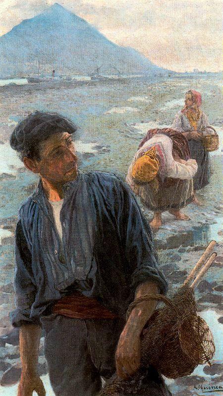 Anselmo Guinea  mariscando