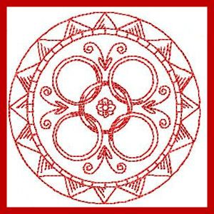 12 Days of Xmas - Free Instant Machine Embroidery Designs  5 Gold (or Golden) Rings