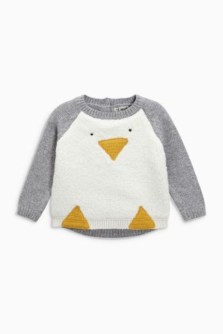 Buy White Penguin Christmas Jumper (3mths-6yrs) online today at Next: United States of America