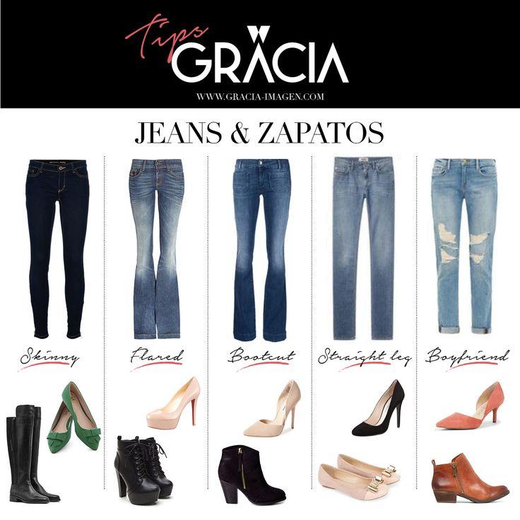 Los zapatos ideales para cada jeans