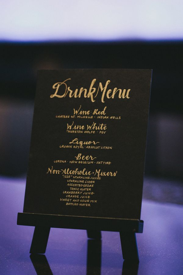 wedding drink menus