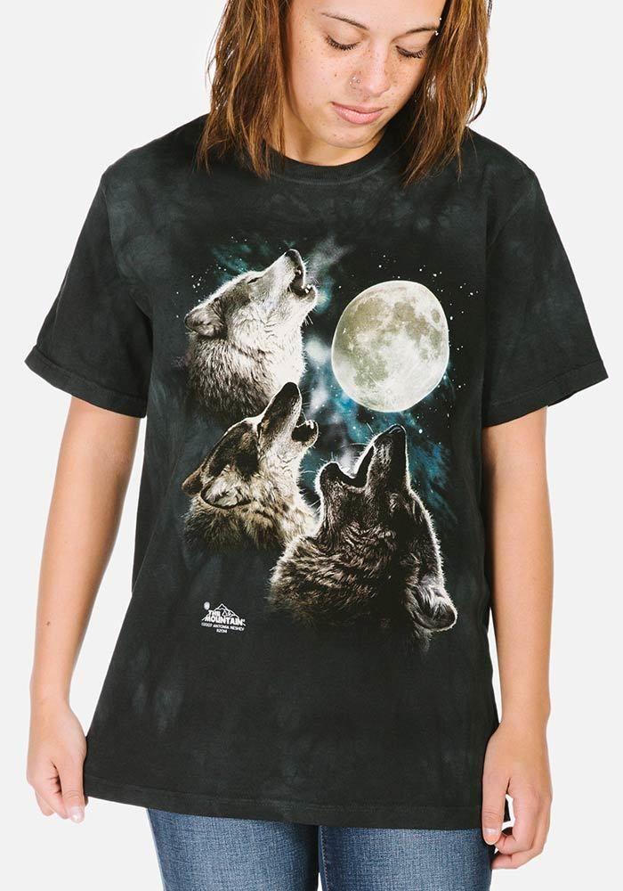 Three Wolf Moon Classic T-Shirt Modeled