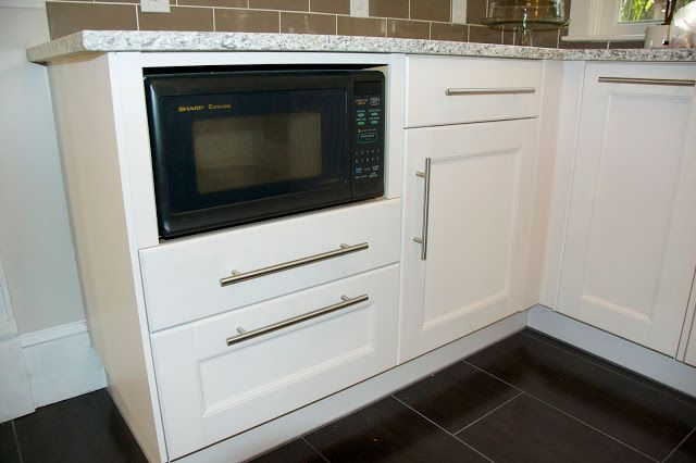Microwave In 24 Quot Base Cabinet Using Cover Panel Trim