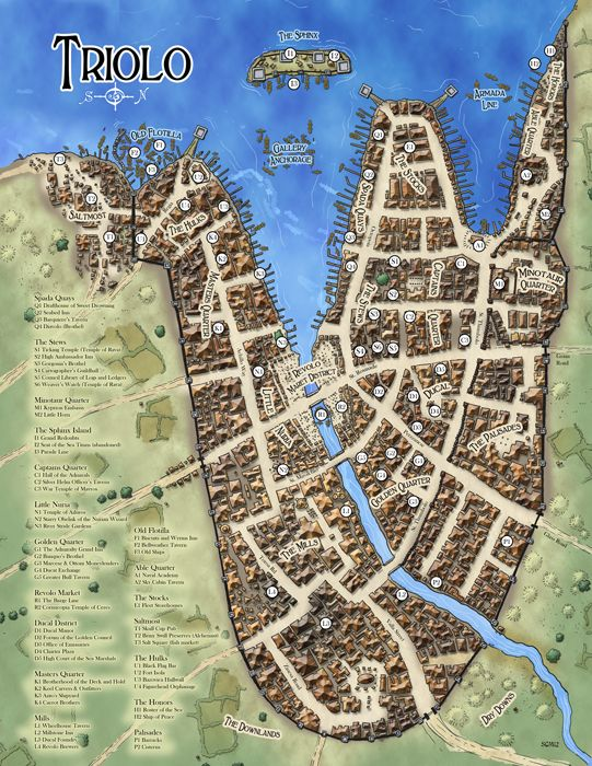 478 best rpg maps images on pinterest maps cartography and city of triolo from the midgard campaign setting open designkobold press 2012 fantasy cityfantasy mapdungeon gumiabroncs Choice Image