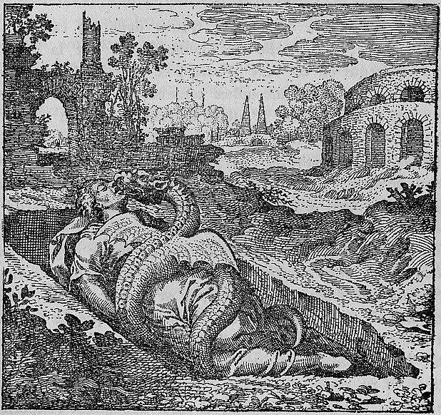 Alfa Romeo Logo - A Serpent eating a man