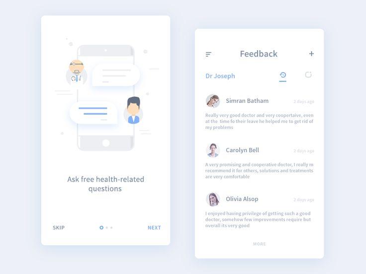 Feedback and Walkthrough (from medical app)
