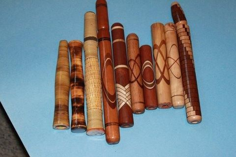 Custom Inlaid Wood Handles Lake Lady Custom Fishing Rods