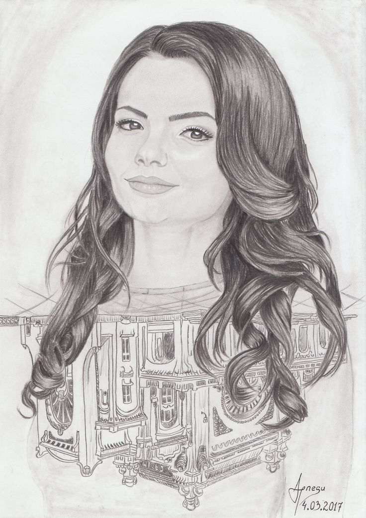 My #beautiful sister and Casino Constanta ... If you want to see more, look here: https://www.facebook.com/AndreiIonescuArt/ ... #art #drawing