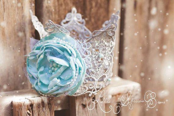 SALE OOAK Frozen Princess Elsa Royal Crown by LittleSparrowBows