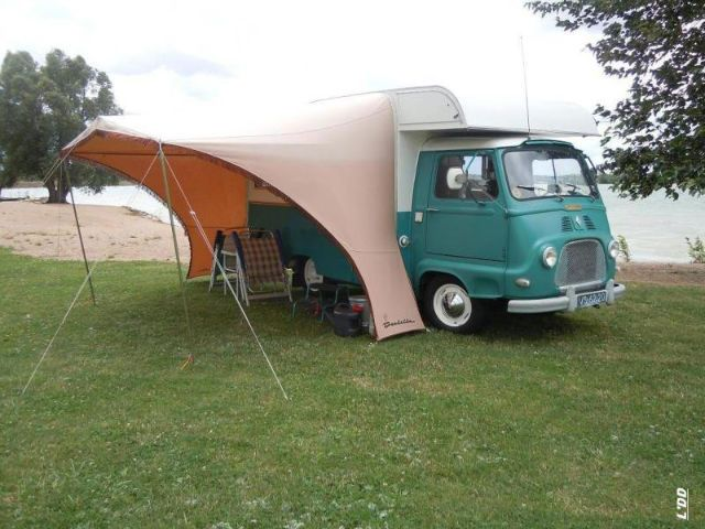 estafette camping car et auvent caravanes camping cars vintages pinterest auvents. Black Bedroom Furniture Sets. Home Design Ideas
