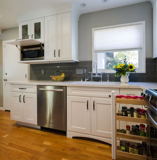 Finding Hidden Storage In Your Kitchen Pantry: 1000+ Ideas About Hidden Microwave On Pinterest