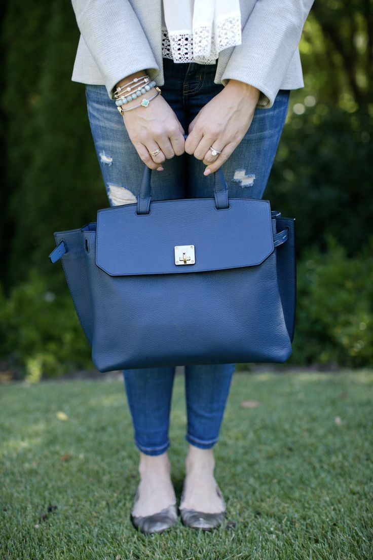 MCM blue backpack.