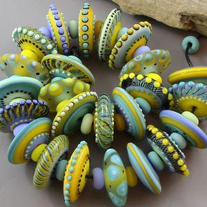 Magma Beads Sunny Disks Handmade Lampwork Beads | eBay