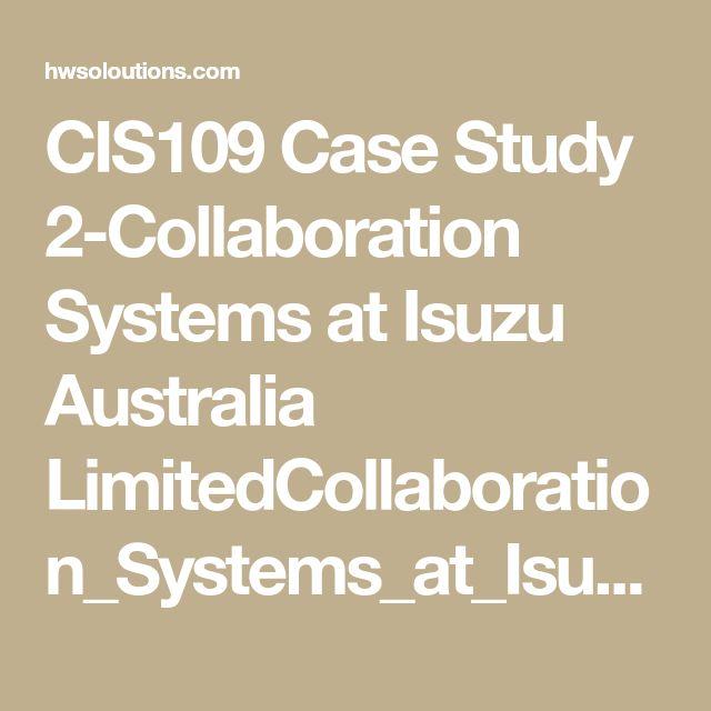 Collaboration Systems at Isuzu Australia Limited