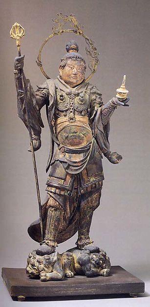 Standing Bishamonten. Japan, Kamakura period. met museum
