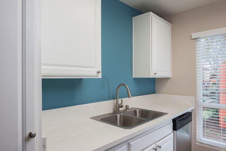 Modern upgrades at Serena Vista Apartment Homes! #LiveHappy® #home #apartments #apartmenthomes #apartmentsforrent #winefridge #kitchen #design