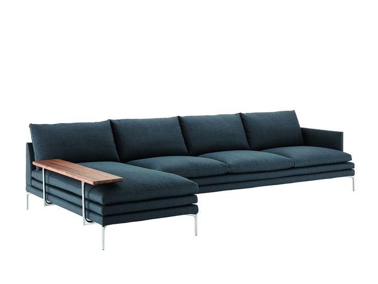 Jetzt bei Desigano.com William Ecksofa mit Ablagefläche Sitzmöbel, Sofa von Zanotta ab Euro 9 497,00 € https://www.desigano.com/sofa/1420-william-ecksofa-mit-ablageflache-zanotta.html WILLIAM,vom Designer Damian Williamson aus dem Jahr 2010, ist ein komfortables, modernes Ecksofa das Wohnräume, Loungen und Wartebereiche durch sein stilvolles Design glänzen lässt. Seine Füße sind wählbar aus polierter oder schwarz-lackierter Aluminiumlegierung. Die Basis des Sofas besteht aus einem…