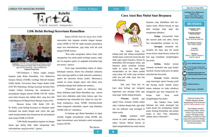 Buletin Tinta Edisi 30, 10 juni 2016