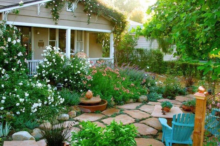 Valentine cottage front garden