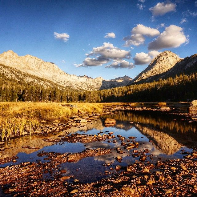 John Muir Trail Day 12 (mile 119.1)  McClure Meadow.  It's really hard to narrow it down, but I think this is in my top 5 of all our campsites on the JMT.  #Regram via @bearfoottheory