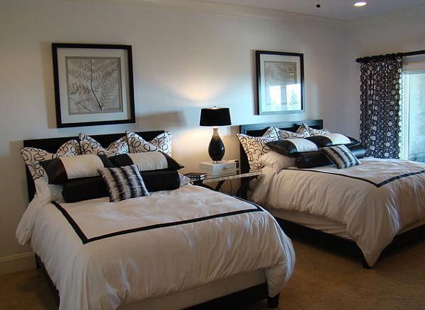 Contemporary Guest Bedroom Is Oasis Away From Home Contemporary Guest Bedroom Home Home Decor Bedroom
