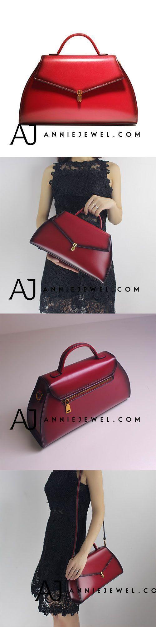 GENUINE LEATHER HANDBAG SHOULDER BAG CROSSBODY BAG PURSE VINTAGE BAG CLUTCH FOR WOMEN #leatherhandbags #leatherbags