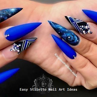 30 große Stiletto Nail Art Design-Ideen #nailart – Long Stiletto Nails