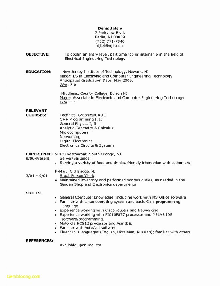 14 resume examples for college students first job di 2020