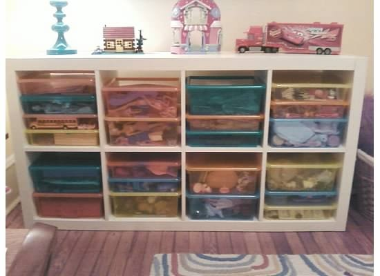 Toy Storage With Expedit And Land Of Nod Bins