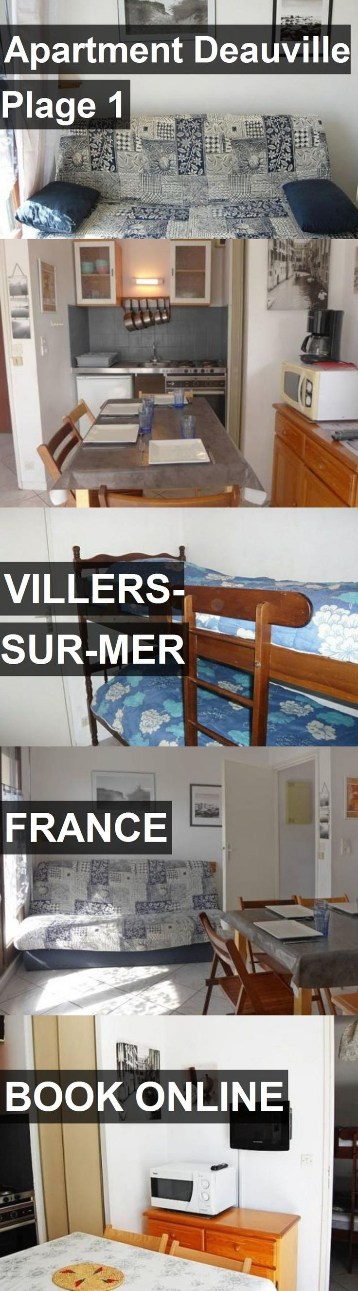 Hotel Apartment Deauville Plage 1 in Villers-sur-Mer, France. For more information, photos, reviews and best prices please follow the link. #France #Villers-sur-Mer #ApartmentDeauvillePlage1 #hotel #travel #vacation