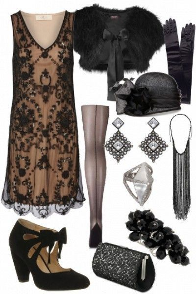 Gorgeous The Great Gatsby inspired outfit. This outfit would make THE PERFECT murder mystery costume!!