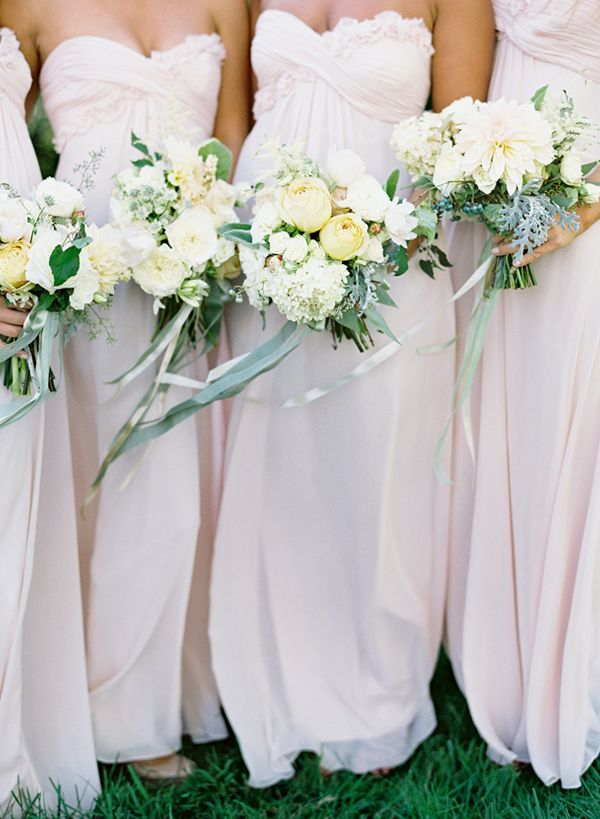 Beautiful bridesmaids with lovely bouquets. Jose Villa. Tracy and Andrew Charlottesville, Virginia Wedding