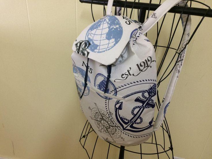 nautical backpack by Twistedpartner on Etsy