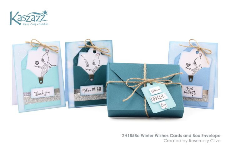 This project will show you how to create a set of three gorgeous cards with tags in an envelope gift box. SB Paper and stamps from the Winter Wonderland collection are featured in this project.