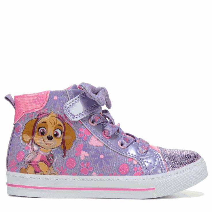Paw Patrol Kids' Paw Patrol Skye High Top Sneaker Toddler/Preschool Shoes (Lilac/Pink)
