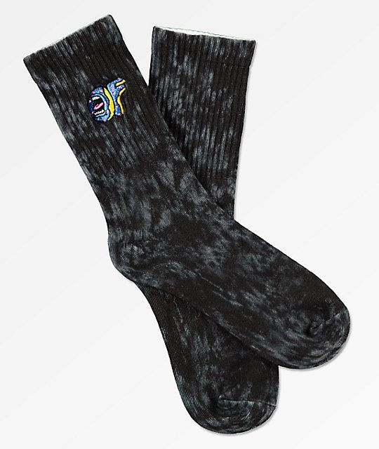 a04de2bd5c73b1 Odd Future x Santa Cruz Black Wash Crew Socks in 2019