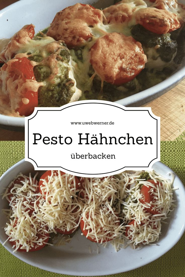 Rezept für Pesto Hähnchen überbacken. Einfach und schnell zubereitet. Eines meiner Lieblingsrezepte. Einfach lecker und saftig...