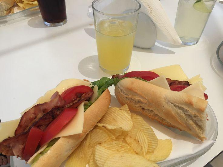 Amazing lunch in santorini