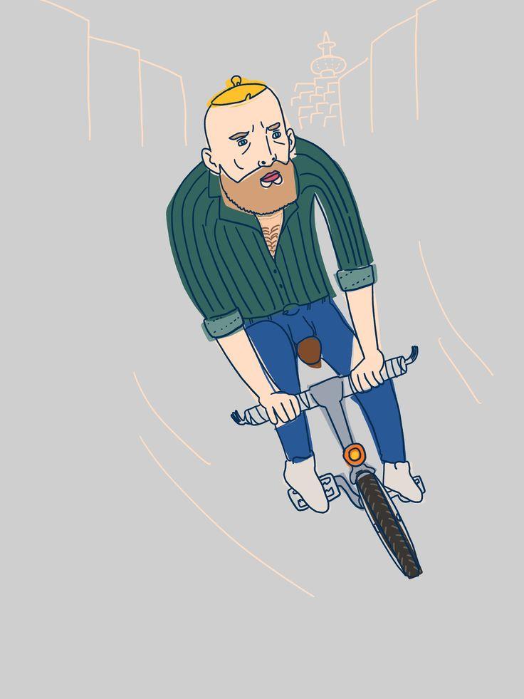 bike guy in stockholm